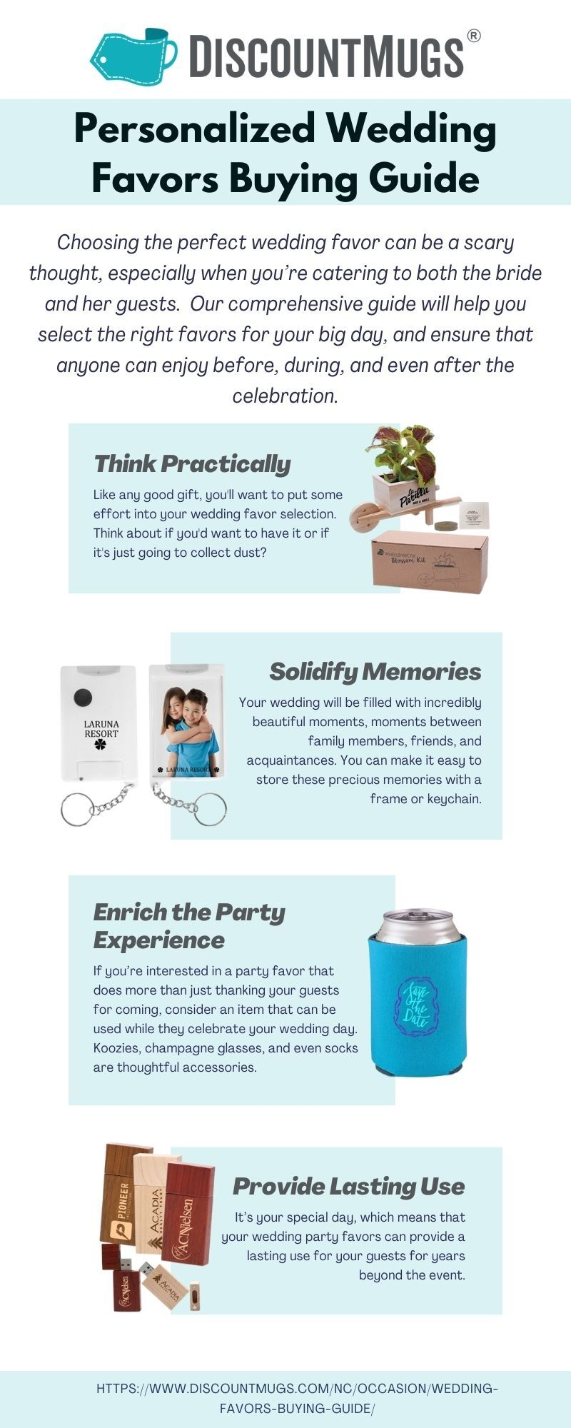 Personalized Wedding Favors Buying Guide Infographic